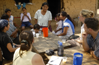 A vision trip with my donors to an MFI in rural Bolivia