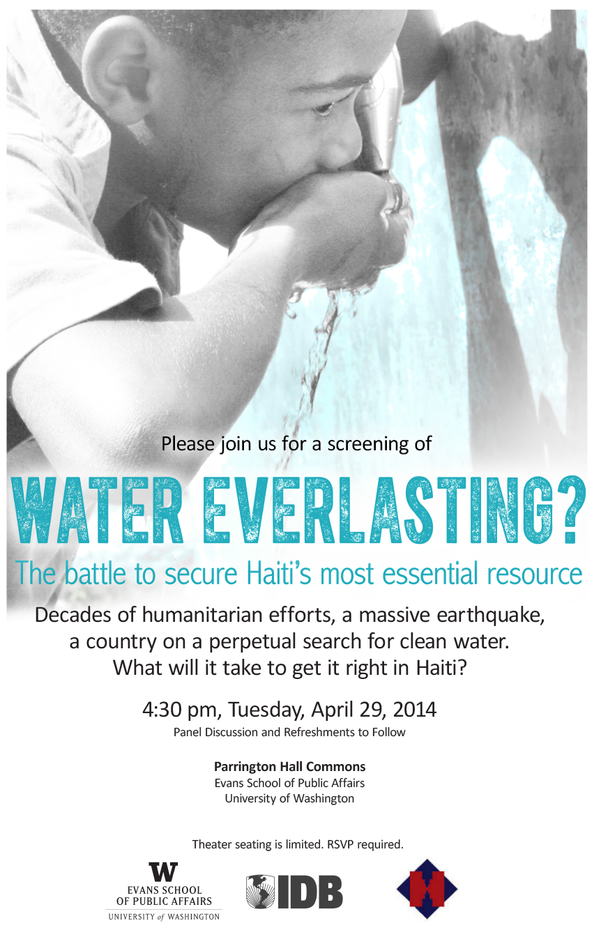 Water Everlasting A Film Screening Panel Discussion Invitation